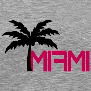 Miami Beach Palm Logo T-Shirts - Men's Premium T-Shirt