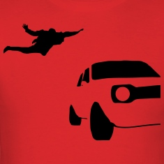 Jumping On Car Silhouette T-Shirts