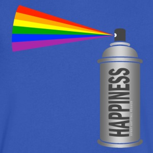 happiness spray can rainbow T-Shirts - Men's V-Neck T-Shirt by Canvas