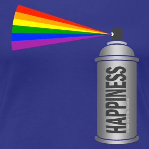 happiness spray can rainbow Women's T-Shirts - Women's Premium T-Shirt