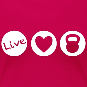 live love lift circles for weight lifting - Women's Premium T-Shirt