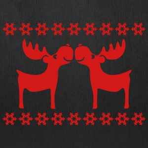 moose caribou reindeer rudolph snowflake elk Bags & backpacks - Tote Bag