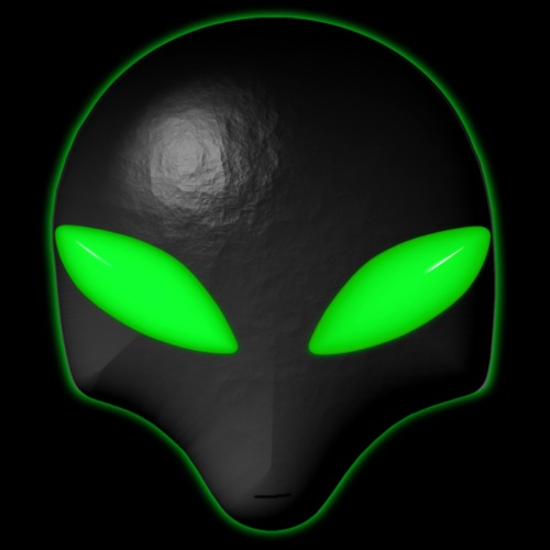 Alien Bug Face Green Eyes