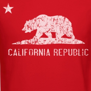 California Republic Flag Distressed Long Sleeve Shirts - Crewneck Sweatshirt