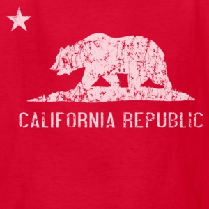 California Republic Flag Distressed Kids' Shirts - Kids' T-Shirt