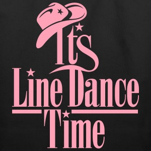 ITS LINE DANCE TIME, COWBOY HAT Bags & backpacks - Eco-Friendly Cotton Tote