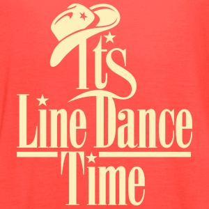 ITS LINE DANCE TIME, COWBOY HAT Tanks - Women's Flowy Tank Top by Bella