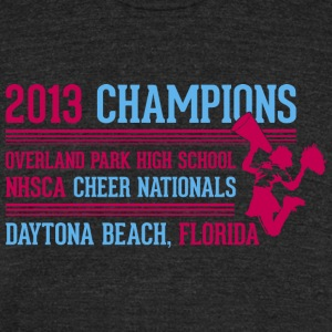 Most Popular Girl 2013 Champions Pink T-Shirts - Unisex Tri-Blend T-Shirt by American Apparel