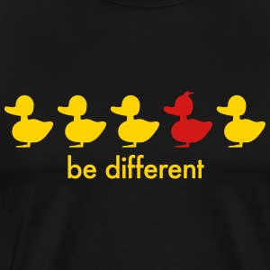 be different cute duck iroquoise ducklings T-Shirts - Men's Premium T-Shirt