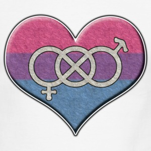 Bisexual Pride Heart with Gender Knot - Men's Ringer T-Shirt