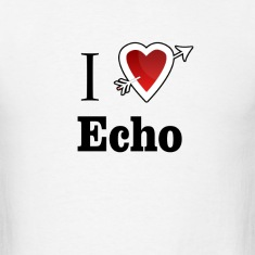 i love echo heart T-Shirts