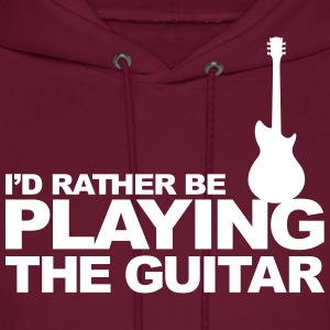 I'd rather be playing the guitar Hoodies - Men's Hoodie