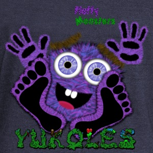 Yukoles Fluffy Monster Long Sleeve Shirts - Women's Wideneck Sweatshirt