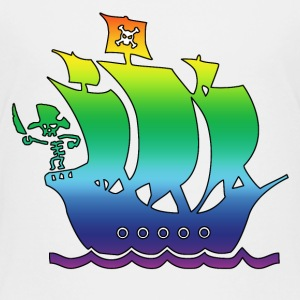 pirate ship multicolor 2 Kids' Shirts - Kids' Premium T-Shirt