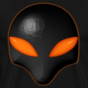 Alien Bug Face - Orange Eyes  - Men's Premium T-Shirt