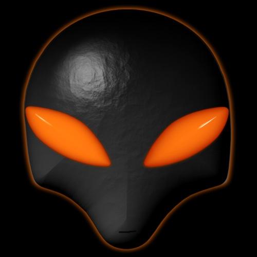 Alien Bug Face Orange Eyes