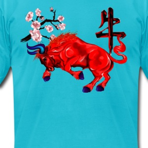 The Red Ox - Men's T-Shirt by American Apparel