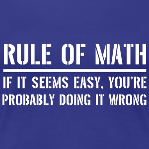 Rule of Math. If seems easy it's probably wrong Women's T-Shirts - Women's Premium T-Shirt