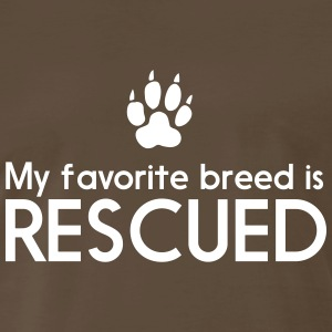 My favorite breed is rescued T-Shirts - Men's Premium T-Shirt