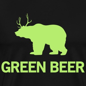Green Beer (Bear/Deer) T-Shirts - Men's Premium T-Shirt