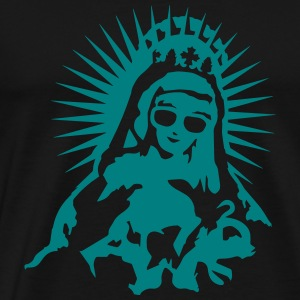 Virgin Mary with a pair of sunglasses T-Shirts - Men's Premium T-Shirt