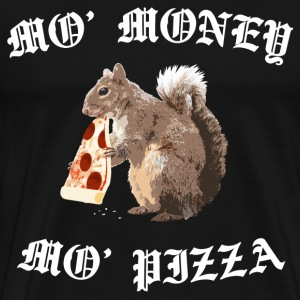 Funny Squirrel - ' Money ' Pizza - Men's Premium T-Shirt