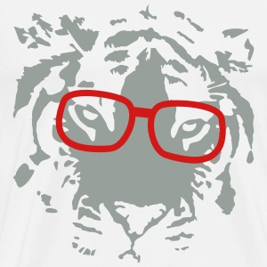 hipster tiger with glasses T-Shirts - Men's Premium T-Shirt