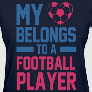 my_heart_belongs_to_a_football_player Women's T-Shirts - Women's T-Shirt