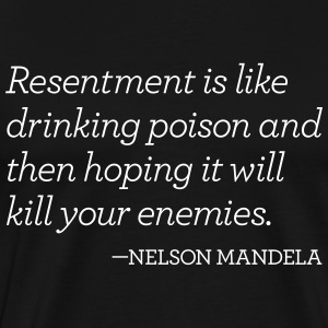 Resentment is like a poison - Men's Premium T-Shirt