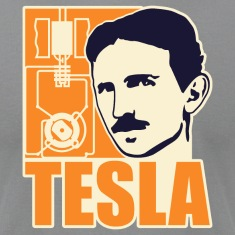 Researchers and developers: Tesla + electric motor T-Shirts