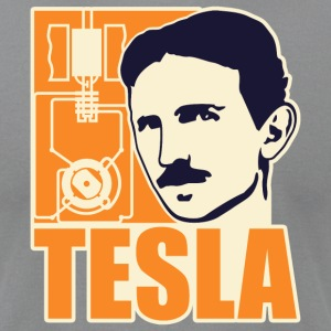 Researchers and developers: Tesla + electric motor T-Shirts - Men's T-Shirt by American Apparel