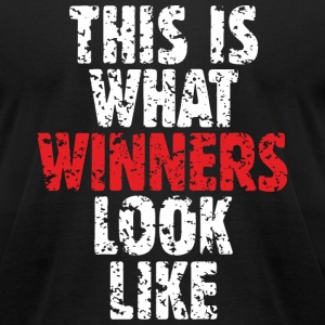 Winner T-Shirts (Men Black) - Men's T-Shirt by American Apparel