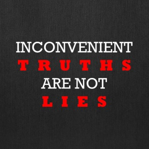 Inconvenient Truths (White and Red) Bags & backpacks - Tote Bag