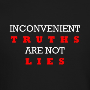 Inconvenient Truths (White and Red) Long Sleeve Shirts - Crewneck Sweatshirt