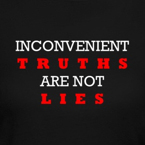 Inconvenient Truths (White and Red) Long Sleeve Shirts - Women's Long Sleeve Jersey T-Shirt