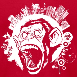 Urban Monkey T-Shirts - Men's T-Shirt by American Apparel