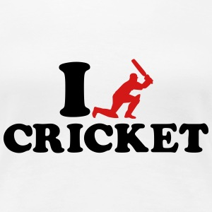 I love Cricket Women's T-Shirts - Women's Premium T-Shirt