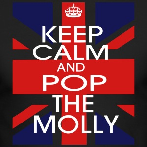 KEEP CALM AND POP THE MOLLY Long Sleeve Shirts - Men's Long Sleeve T-Shirt by Next Level