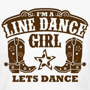I'M A LINE DANCE GIRL Long Sleeve Shirts - Women's Long Sleeve Jersey T-Shirt