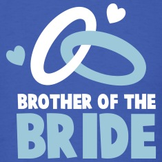 Brother of the BRIDE with cute wedding rings T-Shirts
