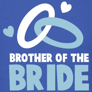 Brother of the BRIDE with cute wedding rings T-Shirts - Men's T-Shirt
