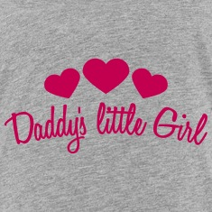 Daddys Little Girl Heart Kids' Shirts