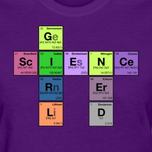 science girl nerd - periodic element scramble - Women's T-Shirt