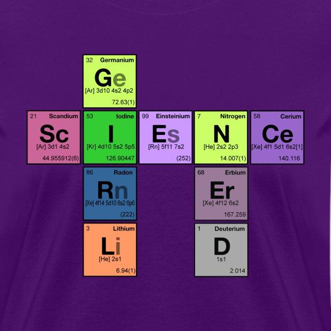 science girl nerd - periodic element scramble
