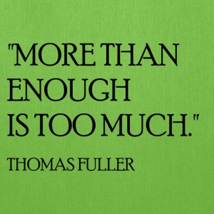 Thomas Fuller Quote (Black) Bags & backpacks - Tote Bag