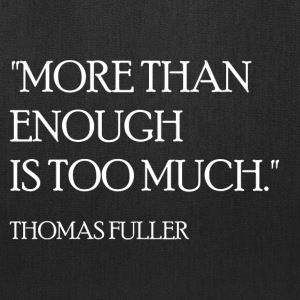 Thomas Fuller Quote (White) Bags & backpacks - Tote Bag