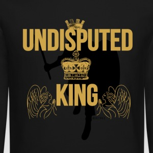 Undisputed King  Gold/Blk Long Sleeve Shirts - Crewneck Sweatshirt