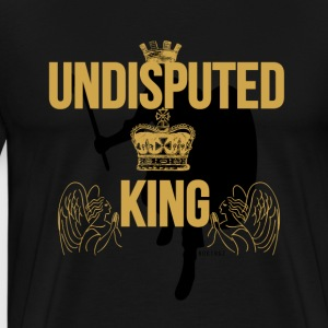Undisputed King  Gold/Blk T-Shirts - Men's Premium T-Shirt