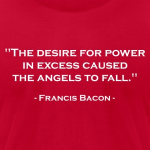 Francis Bacon on Power (White) T-Shirts - Men's T-Shirt by American Apparel