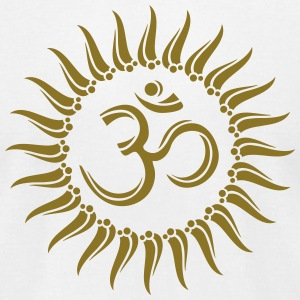 Om sun buddhism, yoga, spiritual, meditation, goa T-Shirts - Men's T-Shirt by American Apparel